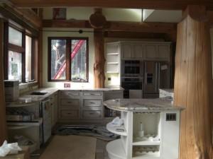 Custom Kitchen under construction