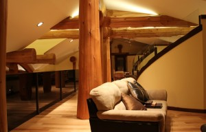 Western Red Cedar Beams are showcased