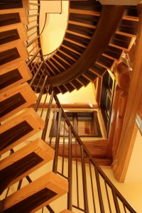 Beautiful spiraling stairwell