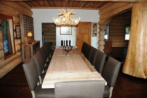 Long dinning room table