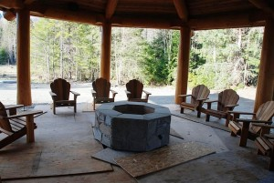 Outdoor fire pit and chairs