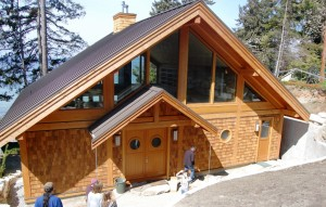 custom west coast home in final stage of construction