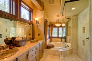 Log Home Bathroom Design