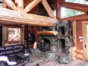 Large Rustic Fireplace