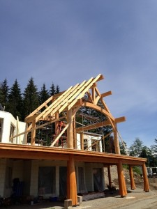 Timber Frame Homes under construction