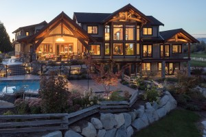 luxurious timber frame home