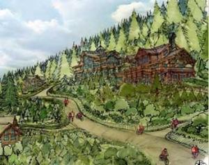 Log homes drawing