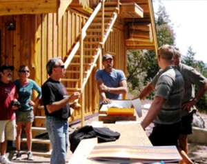 Log Home Builders on site