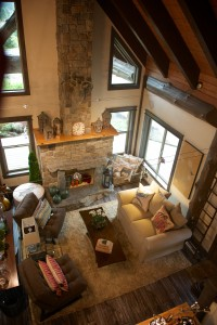birds eye view of the living room
