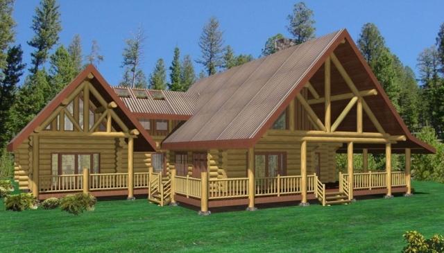Timber Frame Home with Wrap around porch