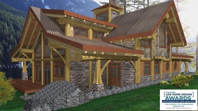 070245 streamline design for Award winning house plans 2016