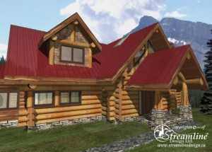 side-of-front-of-log-home-designs