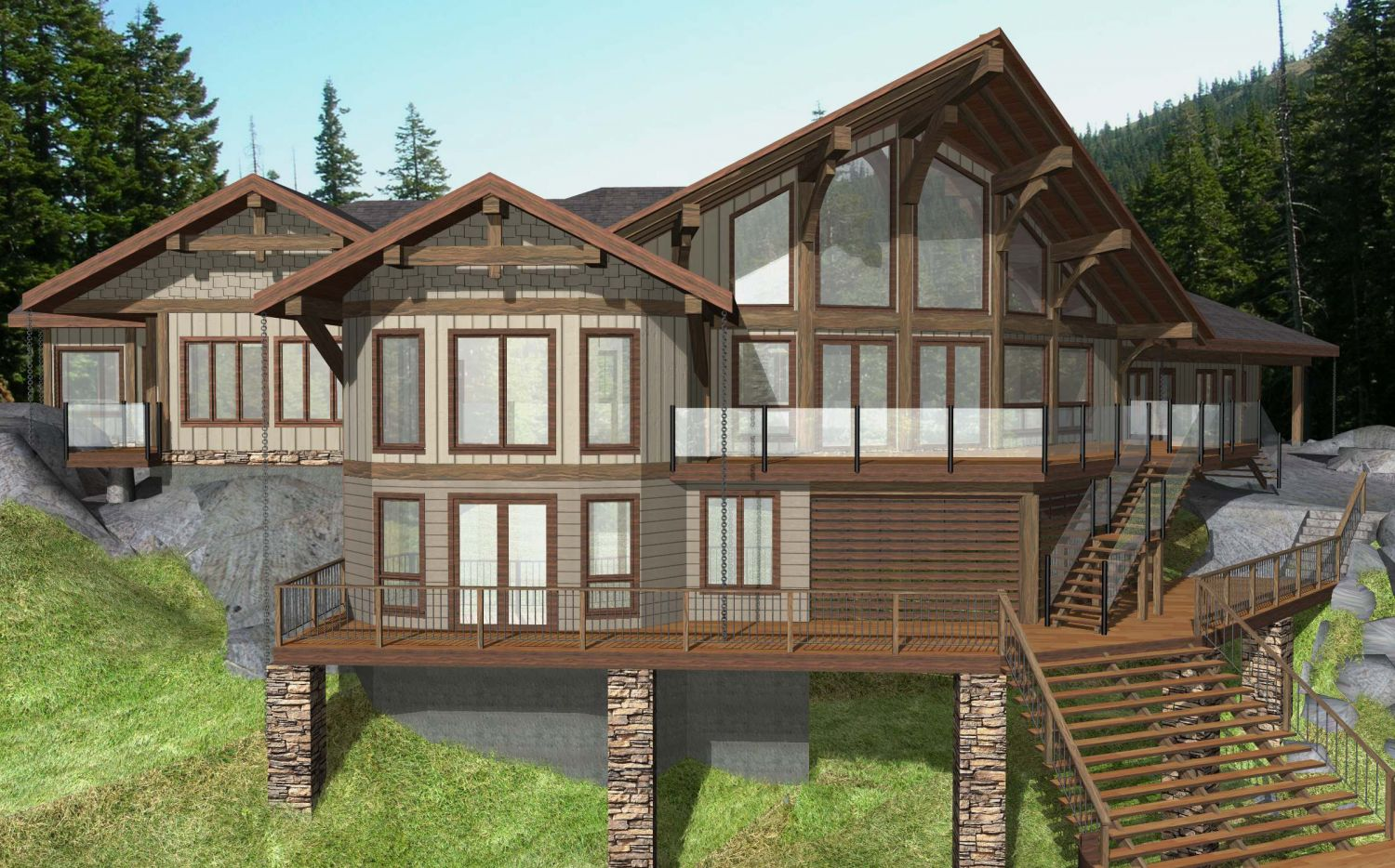 Begbie Timber Frame Plans 4613sqft Streamline Design