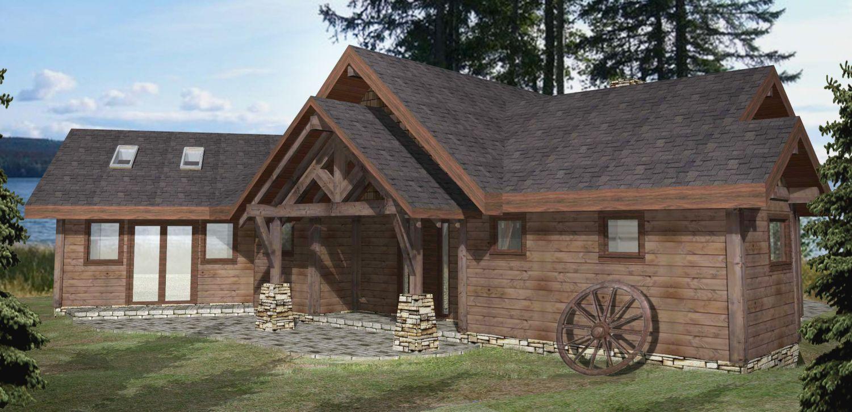 Pioneer timber frame plans 2554sqft streamline design for Timber frame plans