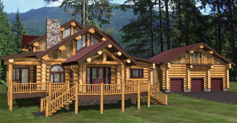 Franklin Log Home Plans 3708sqft Streamline Design