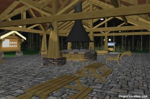 fireplace-and-tables-under-covered-outdoor-space-plans