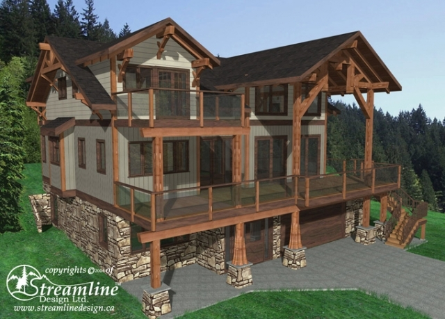 Lookout Ridge Timber Frame Plans 3514sqft Streamline