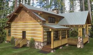 log cabin rendering