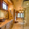 Custom Master bathroom with soaker tub and shower
