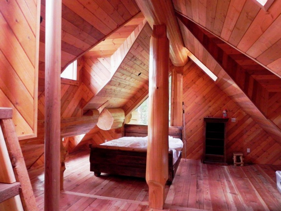 log home finished attic