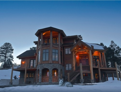 Pagosa Springs Log Home Hybrid Design