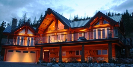 custom log home cabin designs
