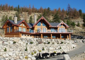 large luxury timber frame home