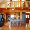 luxury log cabin kitchen