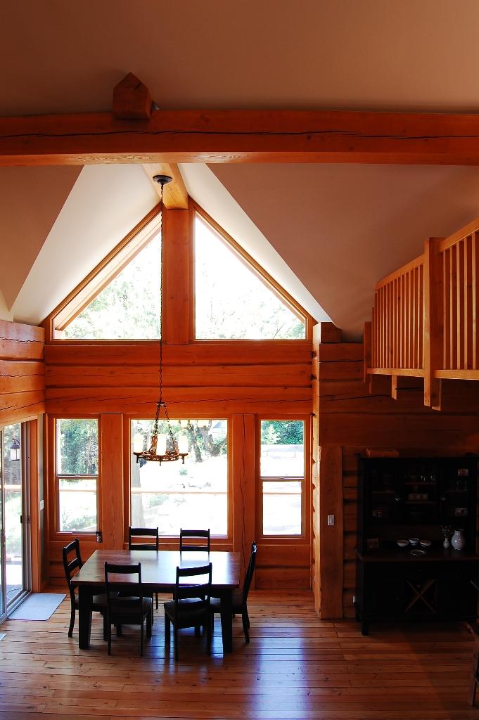 custom log cabin dinning room