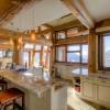 custom luxury kitchen in log home
