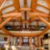 western red cedars are the focus of this timber frame home