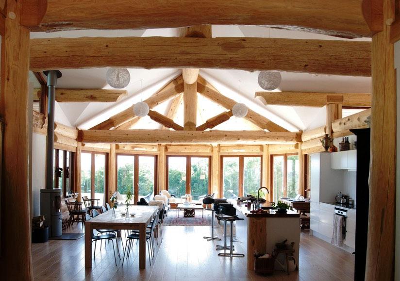 Greenville Log Home Design Streamline Design
