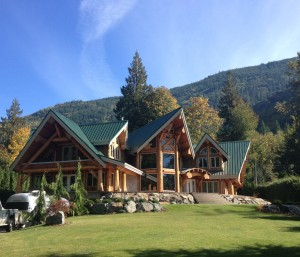 luxurious mountainside Timber Frame Home