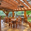 beautiful restaurant deck