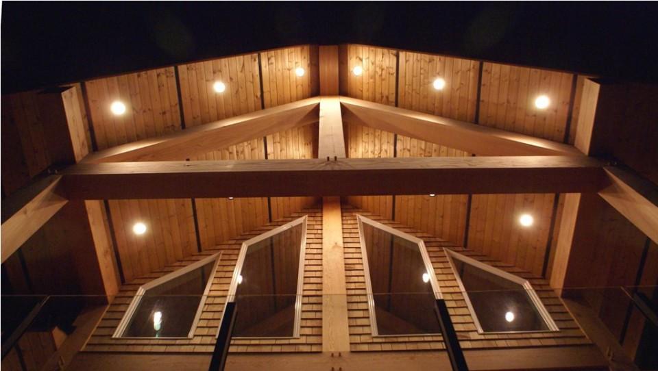 timber frame home lighting