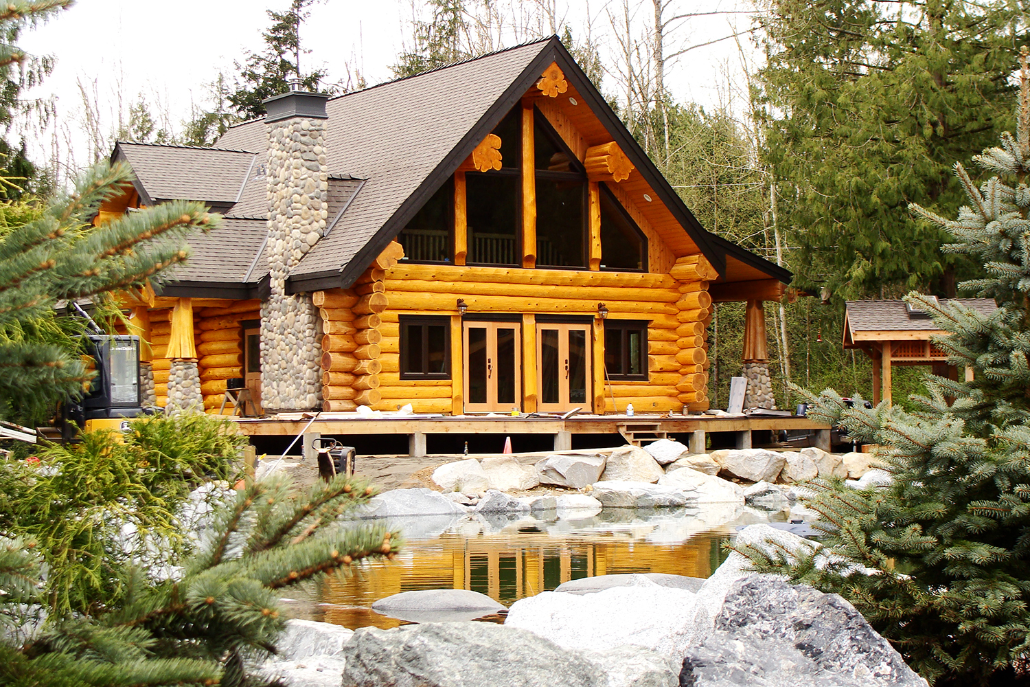 What do log timber frame homes cost streamline design for Log home plans with cost to build