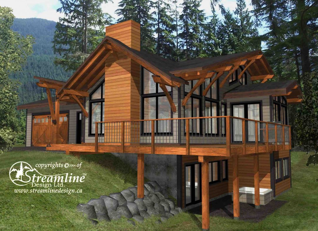 Emma lake 3 937 sqft streamline design for How to design a timber frame house