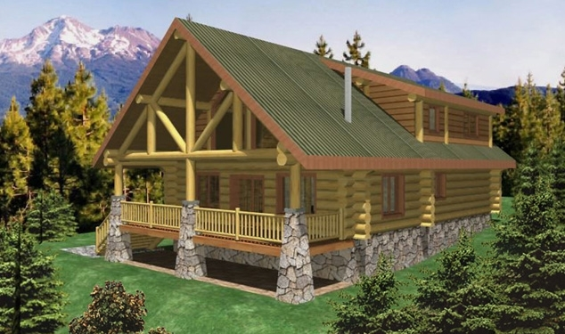 Amatillo Log Home Plans