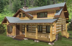Big Rock Log Home Plans