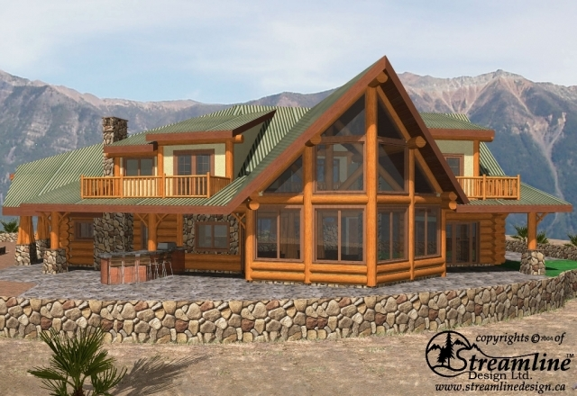 Bratton Valley Log Home Plans