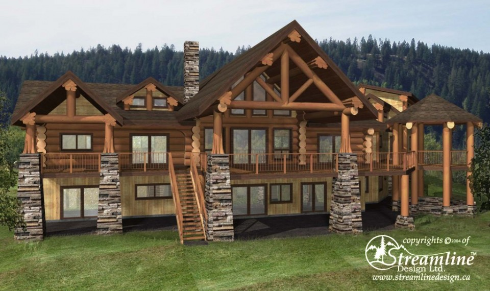 Chilson Log Home Plans 6887sqft Streamline Design