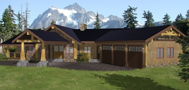 Coastal Black Custom Timber Frame Plans