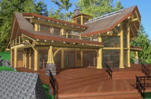 Cortes Log Home Plans