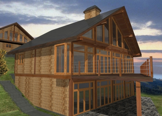 Davis Bay Log Home Plans