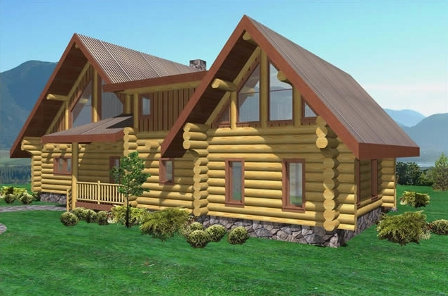 Elkhorn Log Home Plans