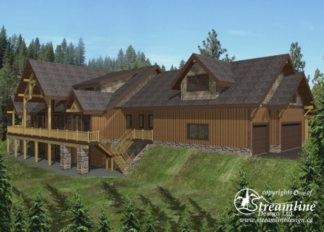 Ellsworth Timber Frame Plans 8970sqft Streamline Design