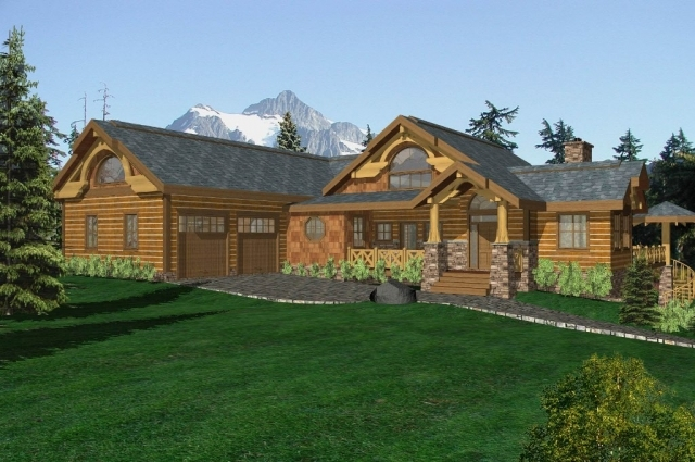 Foothills Timber Frame Plan