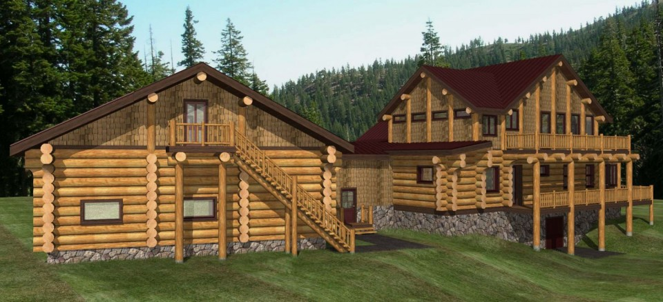 Franklin Log Home Plans