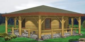 Gingolx Hex Log Home Plans