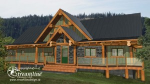 Golden Acres B&B Log Home Plans